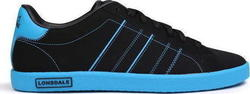 Lonsdale Oval Trainers 165027 Black/ Blue