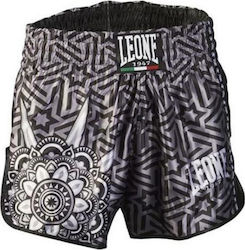 LEONE MANDALA THAI/KICK BOXING SHORTS - BLACK
