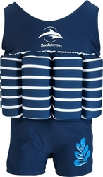 Konfidence Floatsuit Navy Stripe
