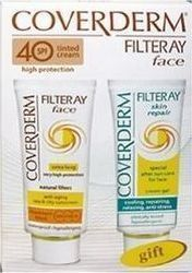 Coverderm Filteray Face Cream SPF80 50ml & Filteray Skin Repair Cream 50ml
