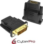 CyberPro DVI-D male - HDMI female (CP-DH02)