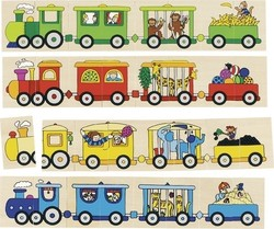 Puzzle Memo Locomotives 80pcs (56945) Goki