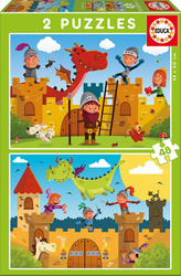 Dragons and Knights 2x48pcs (17151) Educa