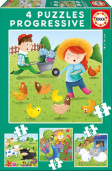 Farm Animals 6,9,12 & 16pcs (17145) Educa