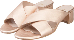 NELLY SHOES NELLY SHOES 213 8 ROSE GOLD LEATHER
