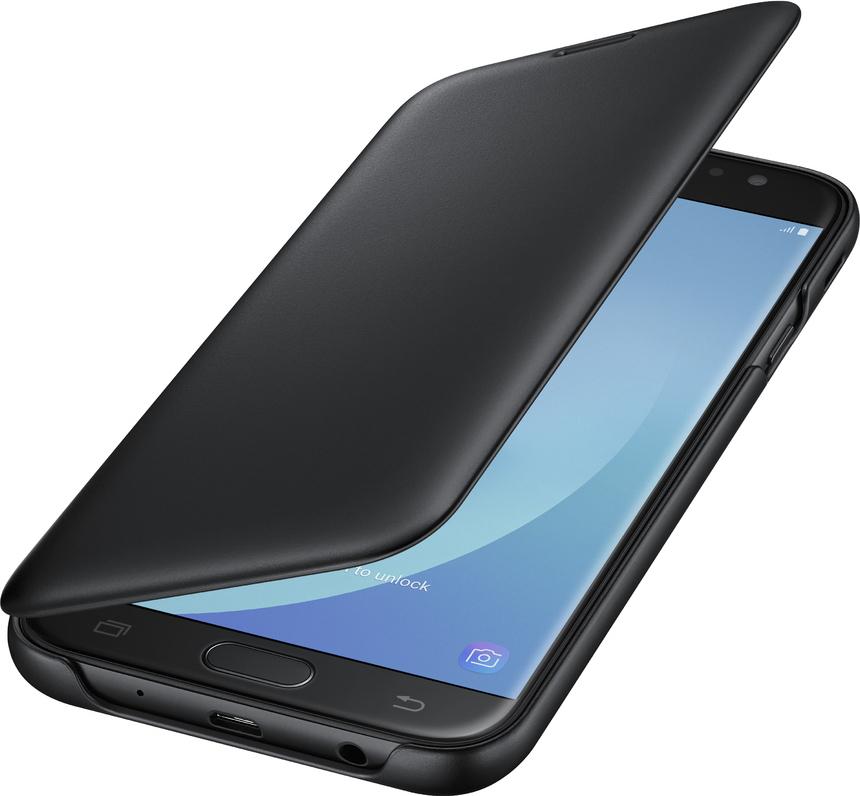 factory authentic 7d56d 07304 Samsung Wallet Cover Μαύρο (Galaxy J7 2017)