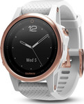 Garmin Fenix 5s Rose Goldtone Sapphire with White Band