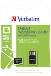Verbatim Tablet microSDHC 16GB U1 with USB Card Reader