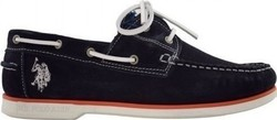 US POLO RUDOLF SUEDE 212041 NAVY ΜΠΛΕ