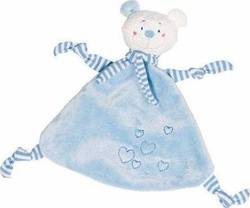 Goki Cuddle Bear Light Blue with Hearts