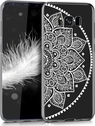 KW Indian Half-Flower Back Cover Σιλικόνης Διαφανές Λευκό (Galaxy S8+)