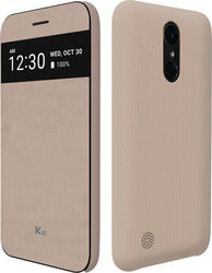 Voia Premium Quick Cover Book Μπεζ (LG K10 2017)