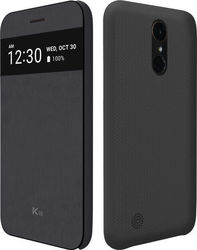 Voia Premium Quick Cover Book Μαύρο (LG K10 2017)