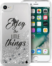 Puro Aqua Back Cover Enjoy The Little Things Silver (iPhone 7)
