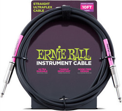 Ernie Ball Cable 6.3mm male - 6.3mm male 3m (6048)