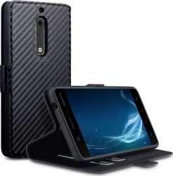 Terrapin Low Profile Wallet Black Carbon Fibre Texture (Nokia 5)