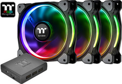 Thermaltake Riing Plus 14 LED RGB Radiator Fan TT Premium Edition (3 Fan Pack) 140mm