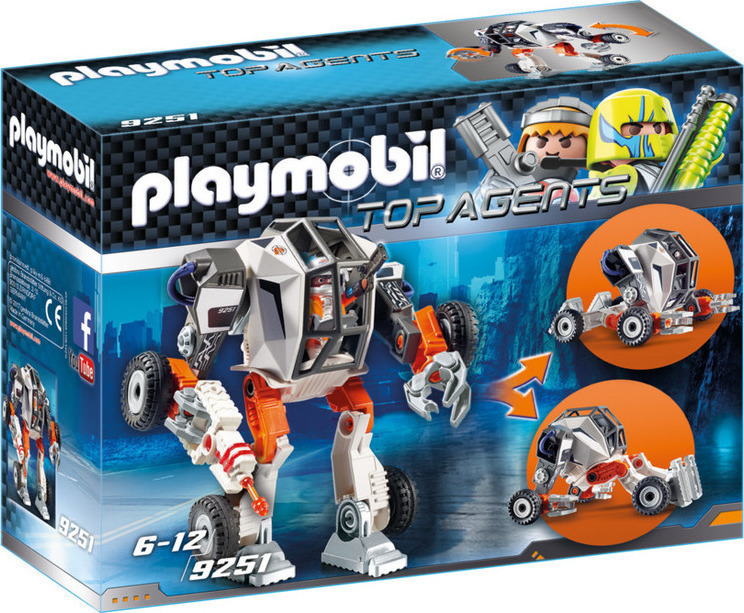 playmobil top agents Ρομπότ Του Πράκτορα tec  skroutzgr
