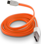 Forever Flat USB 2.0 to micro USB Cable Πορτοκαλί 1m (T_0012042)