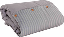 Nef-Nef Μονή Stripes Light Grey 160x240
