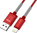 GOLF Braided USB to Lightning Cable Κόκκινο 1m (GC-40I-RD)