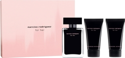 Narciso Rodriguez For Her Eau De Toilette 50ml, Body Lotion 50ml & Shower Gel 50ml