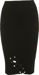 KENDAL & KYLIE W LACE UP PENCIL SKIRT - KCFA17192ST-BLK