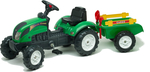 Falk Ranch Trac Green & Trailer & Rake & Shovel