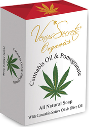 Venus Secrets Cannabis & Pomegranate Soap 150gr