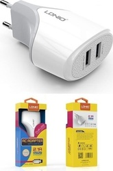 Ldnio 2x USB Wall Adapter Λευκό (A2268)