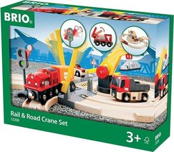 Brio Toys Rail & Road Crane Set