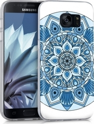 KW Ethnic Flower Blue Light Blue White (Galaxy S7)