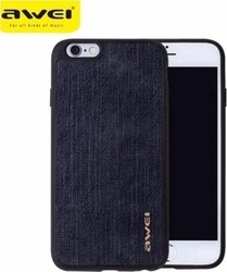 Awei Jeans Back Cover Μαύρο (iPhone 8/7)