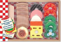 Melissa & Doug Wooden Sandwich - Making Pretend Play Food Set