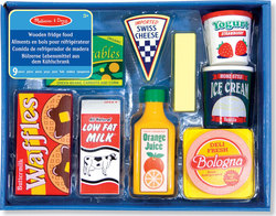 Melissa & Doug Fridge Food Set - Wooden Play Food 8τμχ