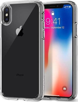 Spigen Ultra Hybrid Back Cover Πλαστικό Crystal Clear (iPhone X / Xs)
