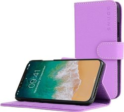 Snugg Leather Flip Wallet Μωβ (iPhone X/Xs)