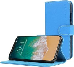 Snugg Leather Flip Wallet Electric Blue (iPhone X/Xs)