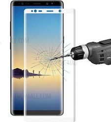 Tempered Glass 0.3mm 9H Για Samsung N950F Galaxy Note 8 Full Cover_White