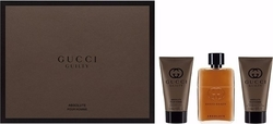 Gucci Guilty Absolute Pour Homme Eau de Parfum 50ml, Aftershave Balm 50ml & Shower Gel 50ml