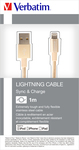 Verbatim Braided USB to Lightning Cable Gold 1m (48861)