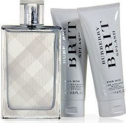Burberry Brit Splash Men Eau de Toilette 100ml, Body Lotion 75ml & Shower Gel 50ml