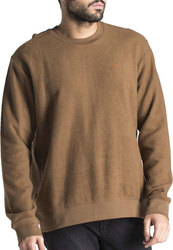 OBEY PROSPECT CREW II FLEECE 224170056-ARMY BROWN Χακί
