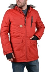 Basehit Long Jacket With Detachable Hood Red