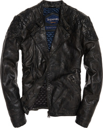 Superdry Endurance Indy Custom Leather Jacket M50032YP-GN4