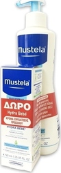 Mustela Gentle Cleansing Gel 500ml & Hydra Bebe Facial Cream 40ml