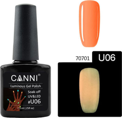 Canni Nail Art U06 Luminous Orange
