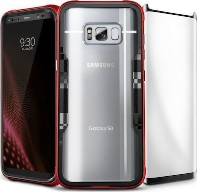 Zizo Shock 2.0 Red + Full Tempered Glass (Galaxy S8+)