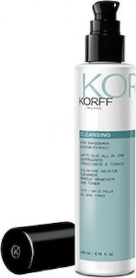 Korff Cleansing All in One Milk Oil Make up Remover Toner 200ml