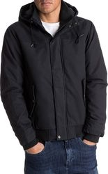 Quiksilver Everyday Brooks Water-Repellent Hooded Bomber Jacket Black